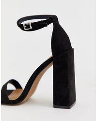 Highlight - Sandali effetto nudo con tacco largo di ASOS in Black