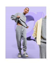Серые Меланжевые Вязаные Джоггеры (от Комплекта) ASOS для него, цвет: Gray