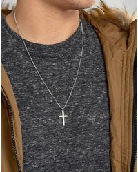 Serge Denimes - Metallic Serge De Nimes Cross Symbol Pendant Necklace In Solid Silver for Men - Lyst