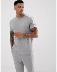 Calvin Klein Gray Statement 1981 Crew Neck T-shirt In Grey Marl for men