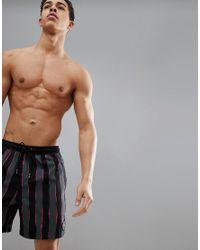 Quiksilver Mad Wax Volley 17 Stripe Beachshort In Black/pink for men