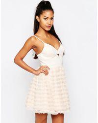 Lipsy - Pink Ariana Grande For Rara Mini Prom Dress - Lyst