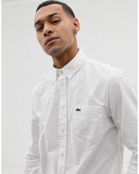 Chemise Oxford avec logo crocodile - Blanc Lacoste pour homme en coloris White
