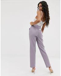 Pantalones UNIQUE21 de color Purple