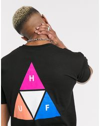 Huf – Prism – T-Shirt mit Dreieck in Black für Herren