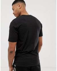 T-shirt nera con logo di Nicce London in Black da Uomo