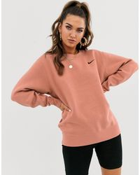 Oversize-свитшот С Логотипом-галочкой -розовый Nike, цвет: Multicolor