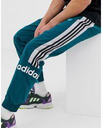 Joggers tissé à 3 bandes - Vert Adidas Originals pour homme en coloris Green