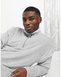 Серый Флисовый Свитшот С Молнией 1/4 Topman для него, цвет: Gray