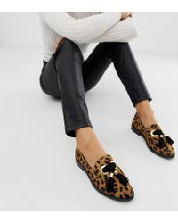 ASOS Multicolor Mimic Leather Loafer Flat Shoes