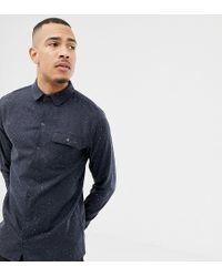Another Influence Blue Tall Fleck Shirt for men