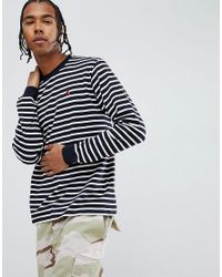 a06dfc6d73 Carhartt WIP Robie Long Sleeve Striped T-shirt In White in White for ...