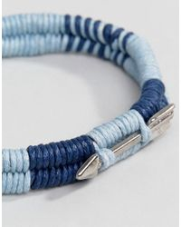 Icon Brand | Blue Wrapped Cord Bracelet In Navy for Men | Lyst