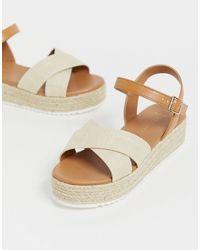 New Look White New Look – Flache Bast-Espadrilles