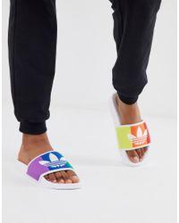 Adidas Originals Multicolor Pride Adilette Sliders