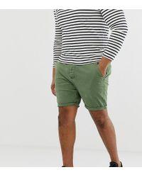 Pantalones cortos chinos ajustados verde desgastado ASOS de hombre de color Green