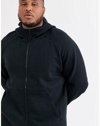 Черный Флисовый Худи Plus Tech Nike для него, цвет: Black