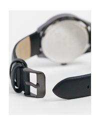 Черные Классические Часы С Монохромным Циферблатом ASOS для него, цвет: Black