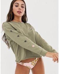 Sweat-shirt de plage avec logo - sauge Billabong en coloris Green