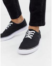 Zapatillas negras con cordones ASOS de hombre de color Black