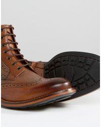 Ted Baker Brown Sealls Brogue Boots for men