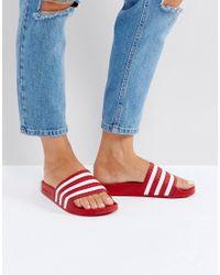 Adidas Originals Red Adilette Slides