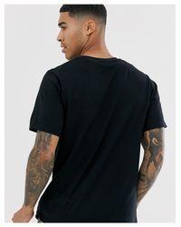 T-shirt nera con logo Burger King di Pull&Bear in Black da Uomo