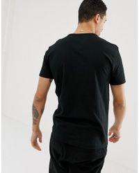 Camiseta negra con cuello redondo y logo de jugador de polo grande rojo de Polo Ralph Lauren de hombre de color Black