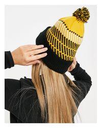 Желтая Шапка-бини В Клетку С Помпоном В Стиле Ретро -желтый The North Face, цвет: Yellow