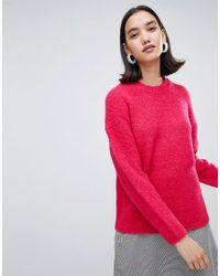 Pull textur SELECTED en coloris Pink