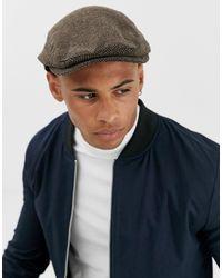 ASOS Brown Flat Cap for men