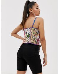 Missguided Multicolor Twist Front Cami Top