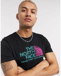 Черная Футболка -черный The North Face для него, цвет: Black