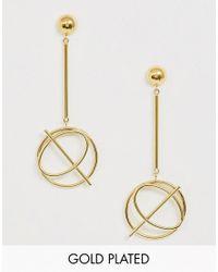 Wanderlust + Co Metallic Infusion Drop Earrings