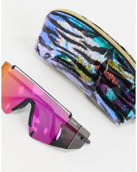Quay - Transcend - Occhiali da sole a mascherina multi di Quay in Multicolor