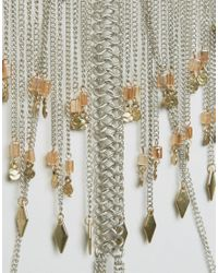 ASOS - Metallic Front & Back Tassel Body Chain - Lyst