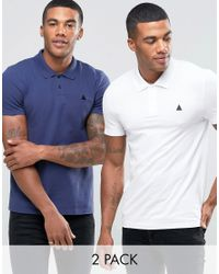 ASOS. Men's 2 Pack Muscle Pique Polo Shirt With Logo Save ...