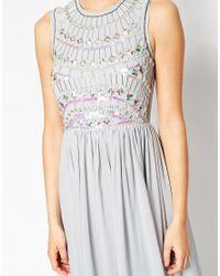 ASOS - Natural Embellished Armour Maxi Dress - Lyst
