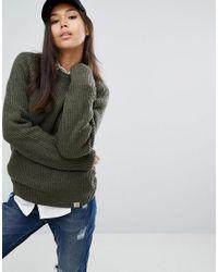 Carhartt WIP Green Oversized Wool Rib Jumper