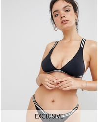 Free Society Black Exclusive Tape Bikini Top