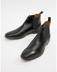 Red Tape Tapton Chelsea Boots In Black for men