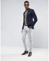 ASOS - Green Tall Skinny Shirt In Light Khaki for Men - Lyst