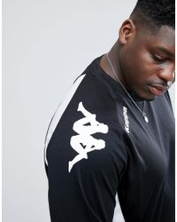 Kappa Black Plus Cremone Training Sport Sweatshirt for men