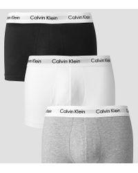 Calvin Klein Multicolor 3 Pack Trunks Low Rise for men