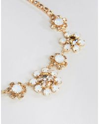 Krystal London - Metallic London Swarovski Crystal Floral Necklace - Lyst