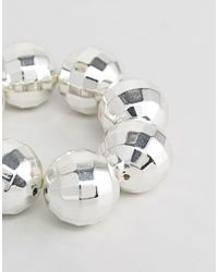 Cheap Monday - Metallic Disco Ball Bracelet - Lyst