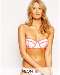 South Beach - White Outh Beach Mix And Match Boost Bustier Bikini Top - Lyst