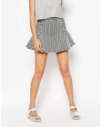 Frankie Morello Multicolor Virgo Syriped Skirt