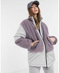 Флисовая Oversize-куртка С Нашивками ASOS, цвет: Multicolor