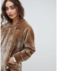 Lindsay - Manteau imitation mouton Free People en coloris Gray